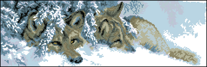 волки вышивка фото